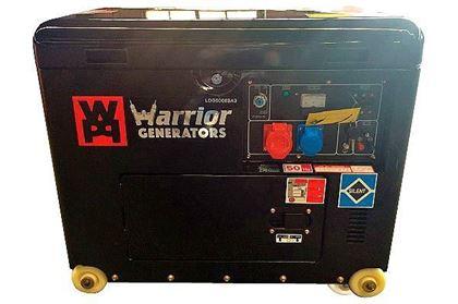 Imagens de Gerador Warrior 6KVA Tri-fásico Insonorizado