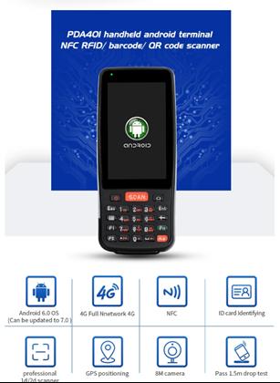 Imagens de Barcode scanner PDA Industrial RACELAND